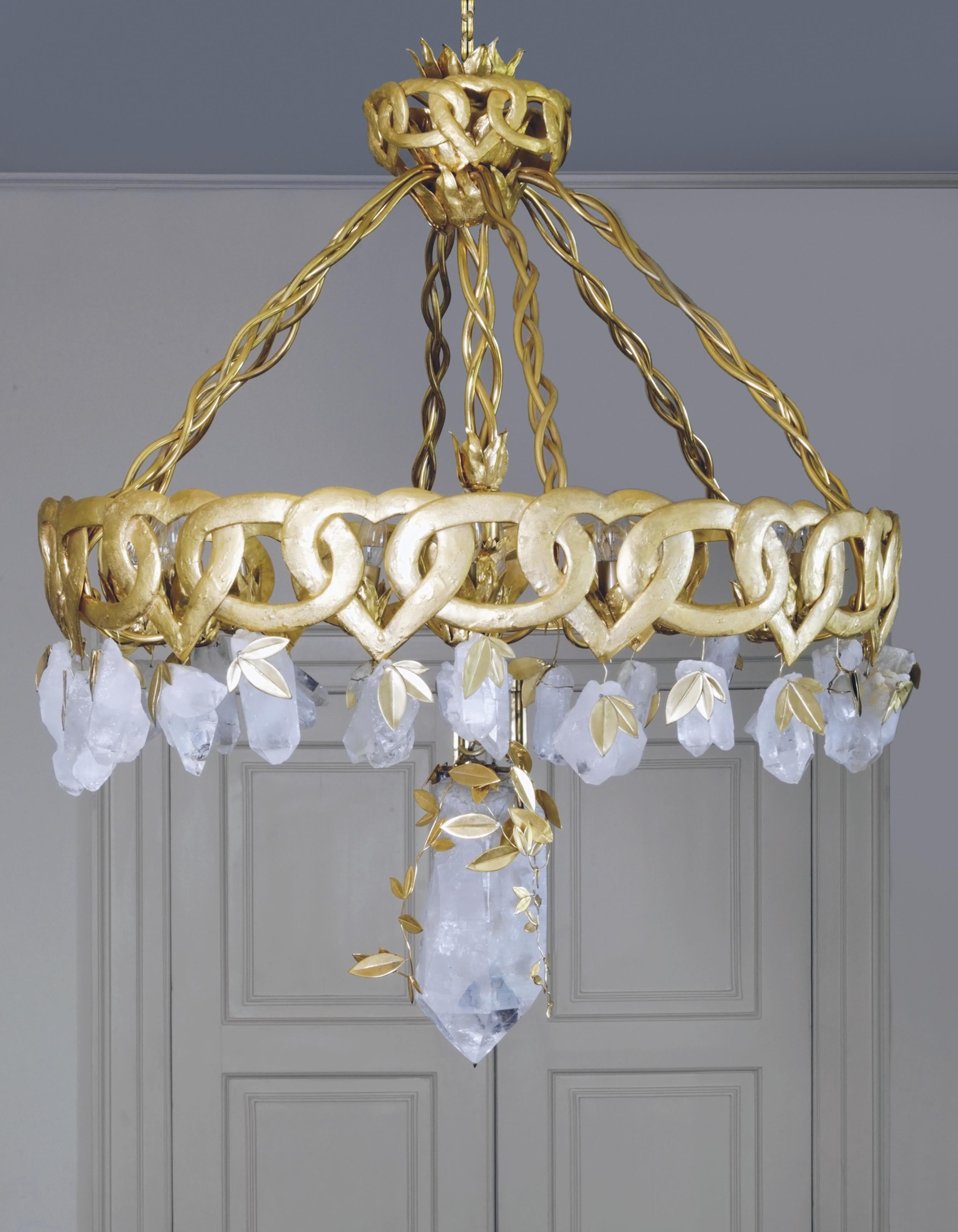 louis rock large antiques and xiv crystal a art bronze c detail to gilt chandelier