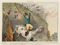 ALKEN, Henry. [Sporting Notions.] London: McLean, 1831-1833 [on thick paper watermarked 1830-1833]. 2° (335 x 250mm). 36 hand-coloured etchings with aquatint. (Plate 1 browned, light soiling.) Early 20th-century red half morocco, spine gilt in compartments. Provenance: Henri Gallice (bookplate) -- Marcel Jeanson (bookplate; sold, Sotheby's Monaco, 28 February 1987, lot 15).