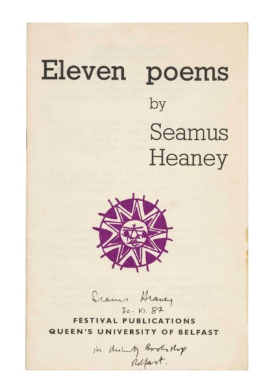 HEANEY, Seamus (b. 1939). Elev