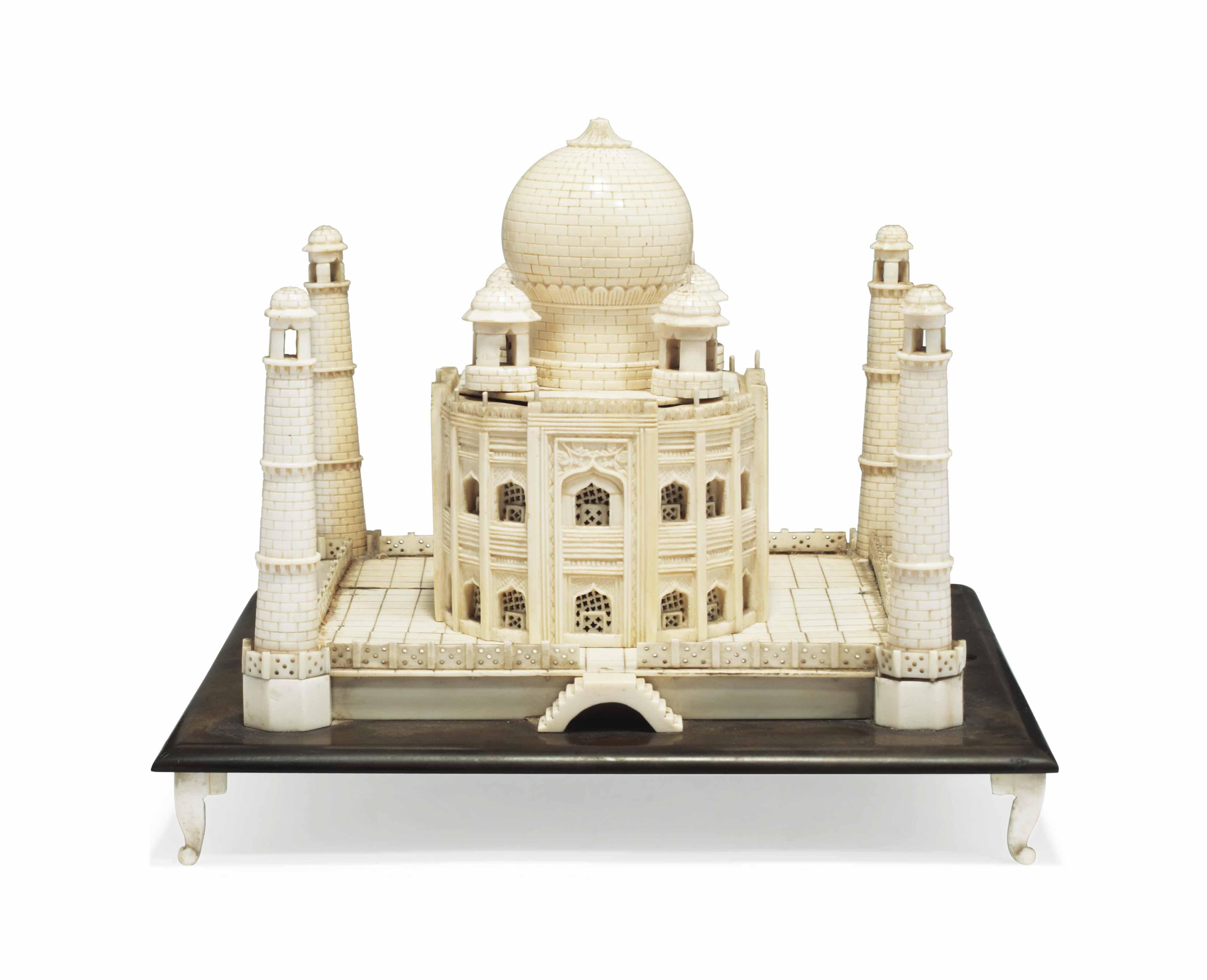 AN IVORY MODEL OF THE TAJ MAHAL