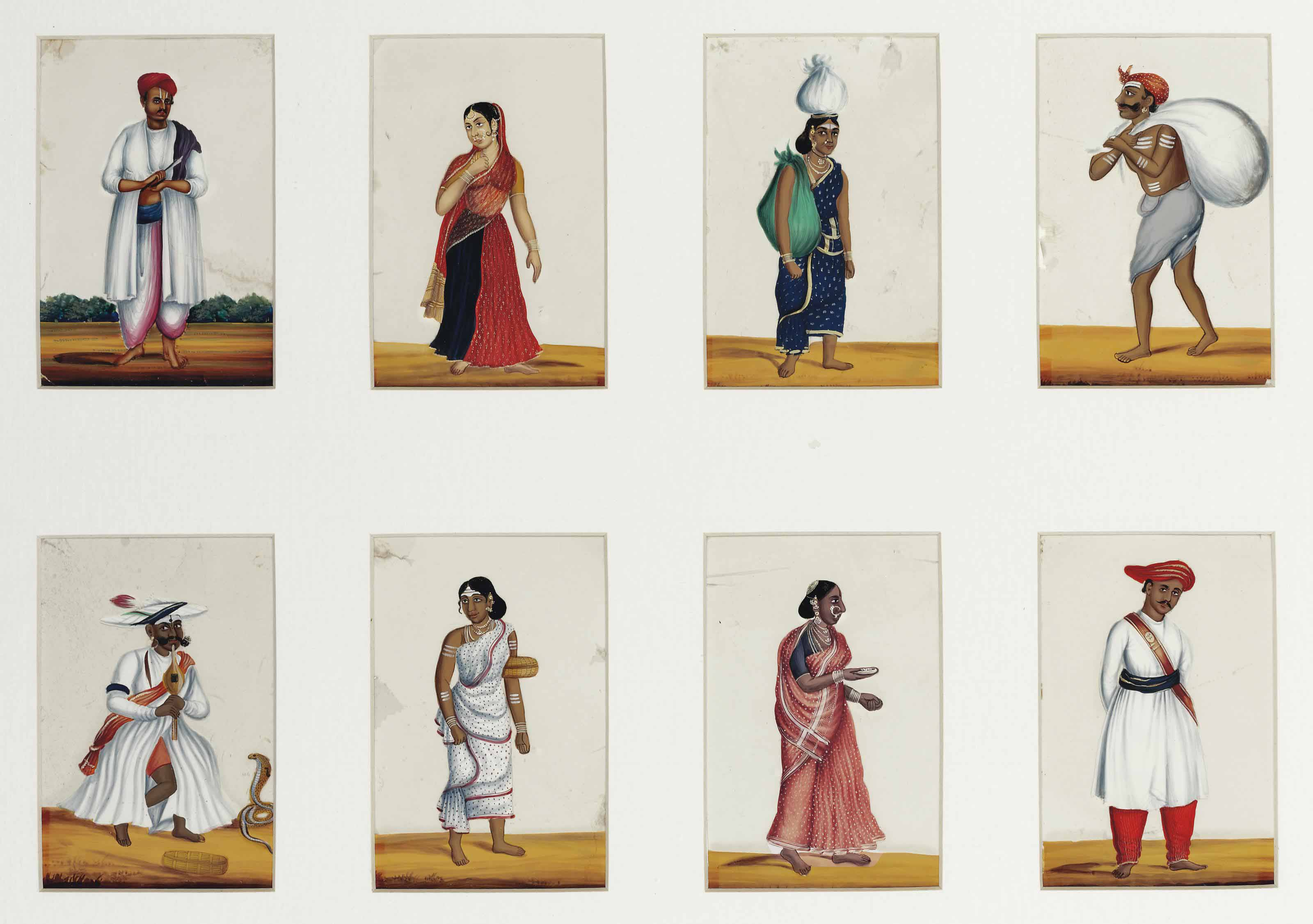 A COLLECTION OF TWENTY-FOUR STUDIES OF THE COSTUMES AND TRADES OF INDIA
