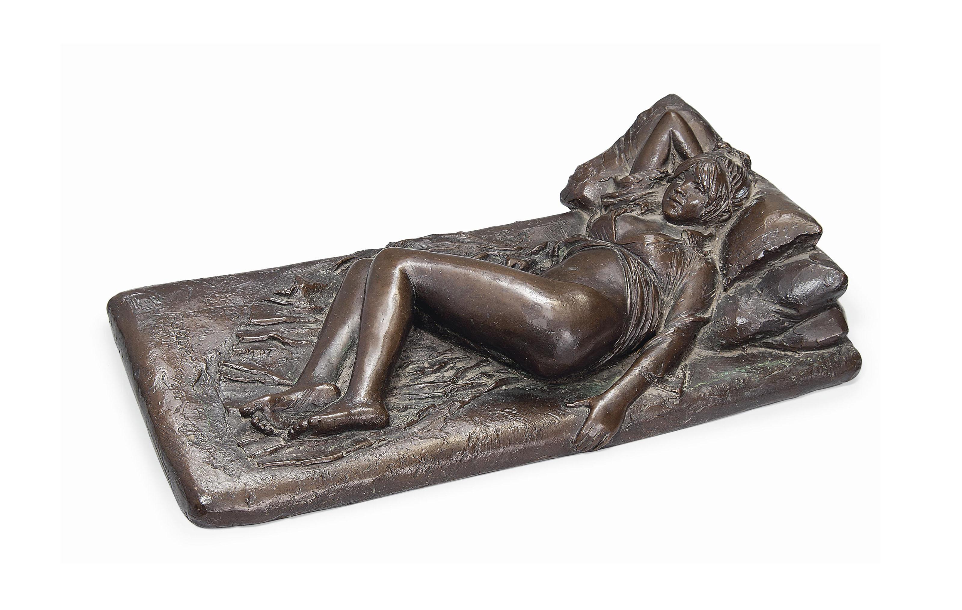 Angela reclining
