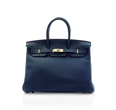 A PRUSSIAN BLUE TOGO LEATHER B