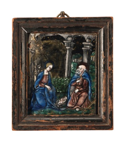 A LIMOGES ENAMEL PLAQUE OF THE