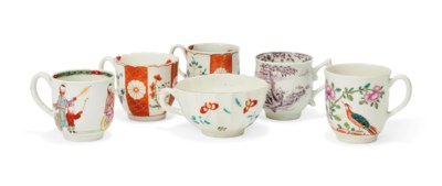 FIVE WORCESTER CHINOISERIE COF