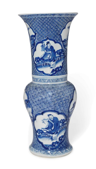 A CHINESE BLUE AND WHITE 'PHOE