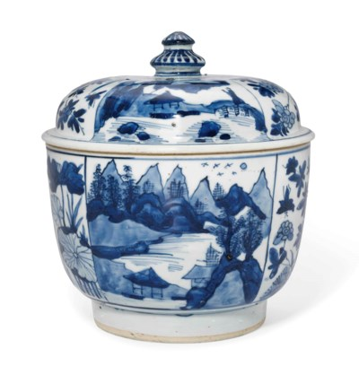 A CHINESE BLUE AND WHITE DEEP