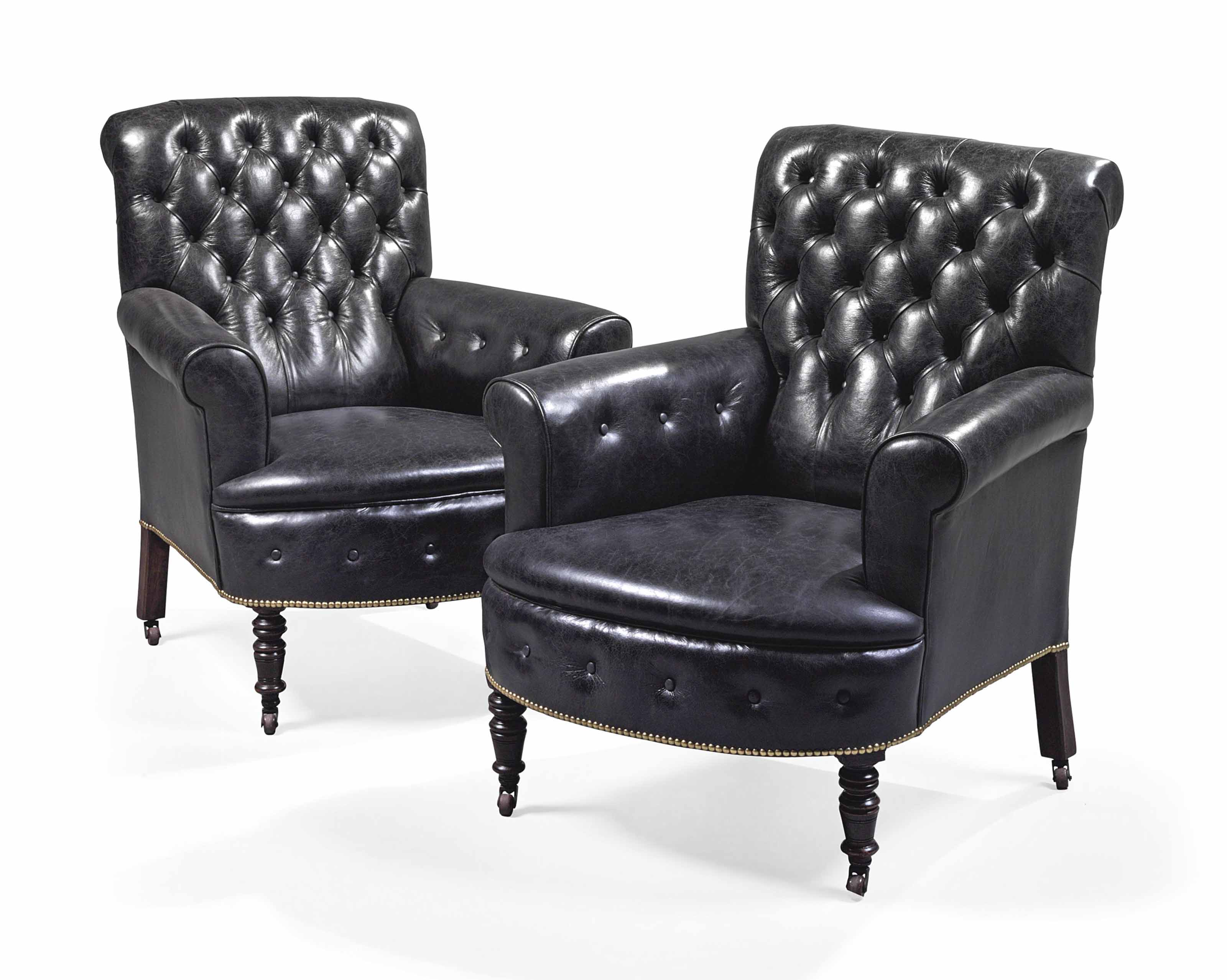 A PAIR OF VICTORIAN BUTTONED B