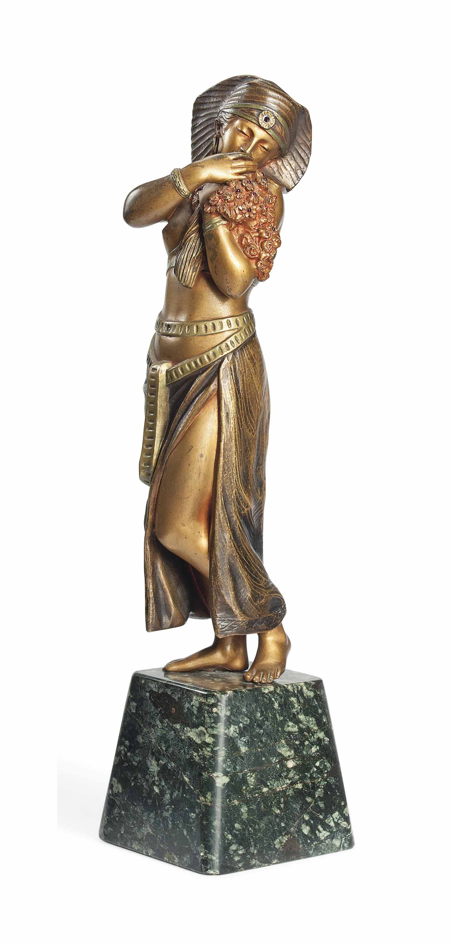 A COLD-PAINTED BRONZE BY TITZE