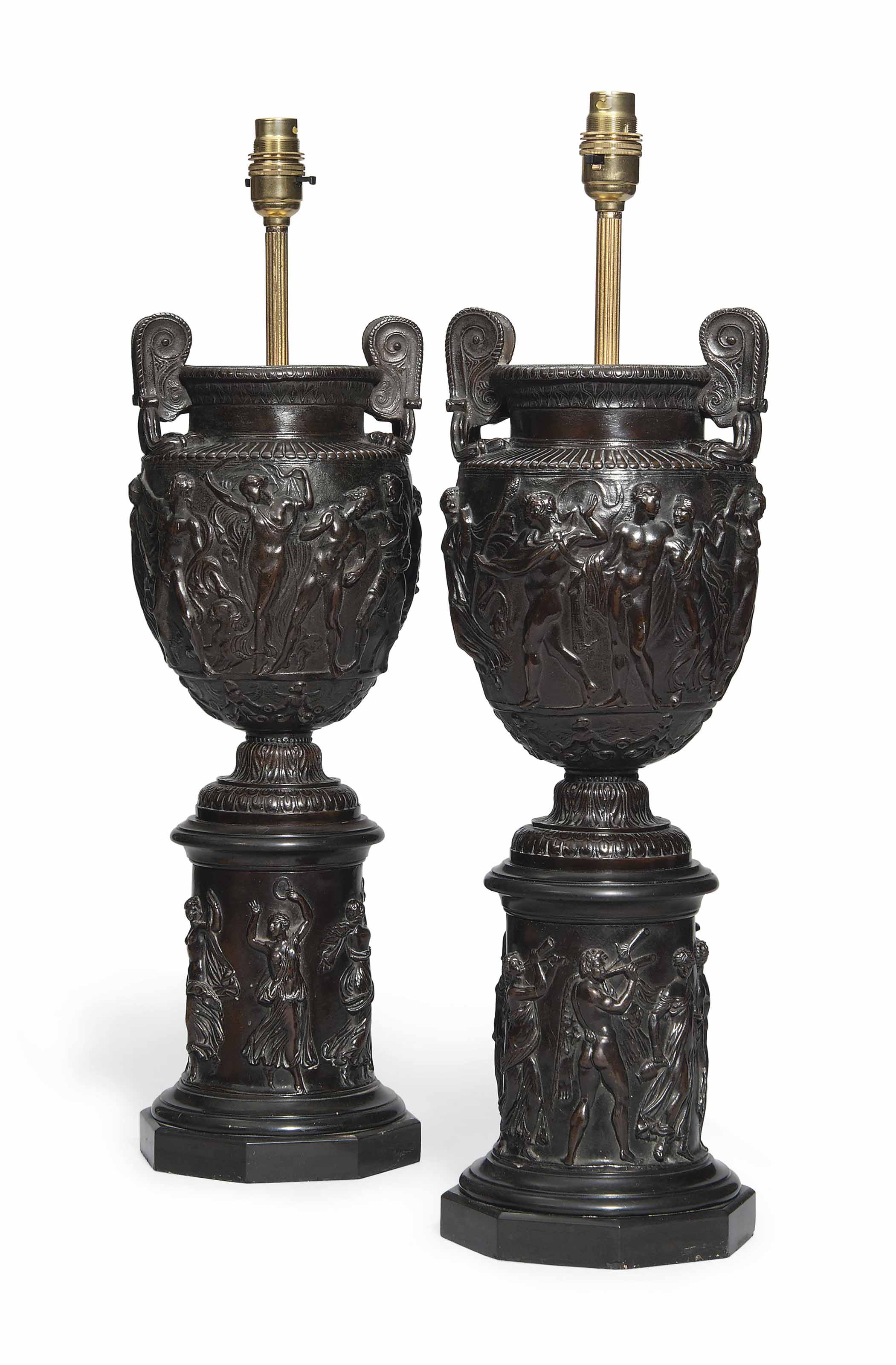 A PAIR OF FRENCH BRONZE MODELS