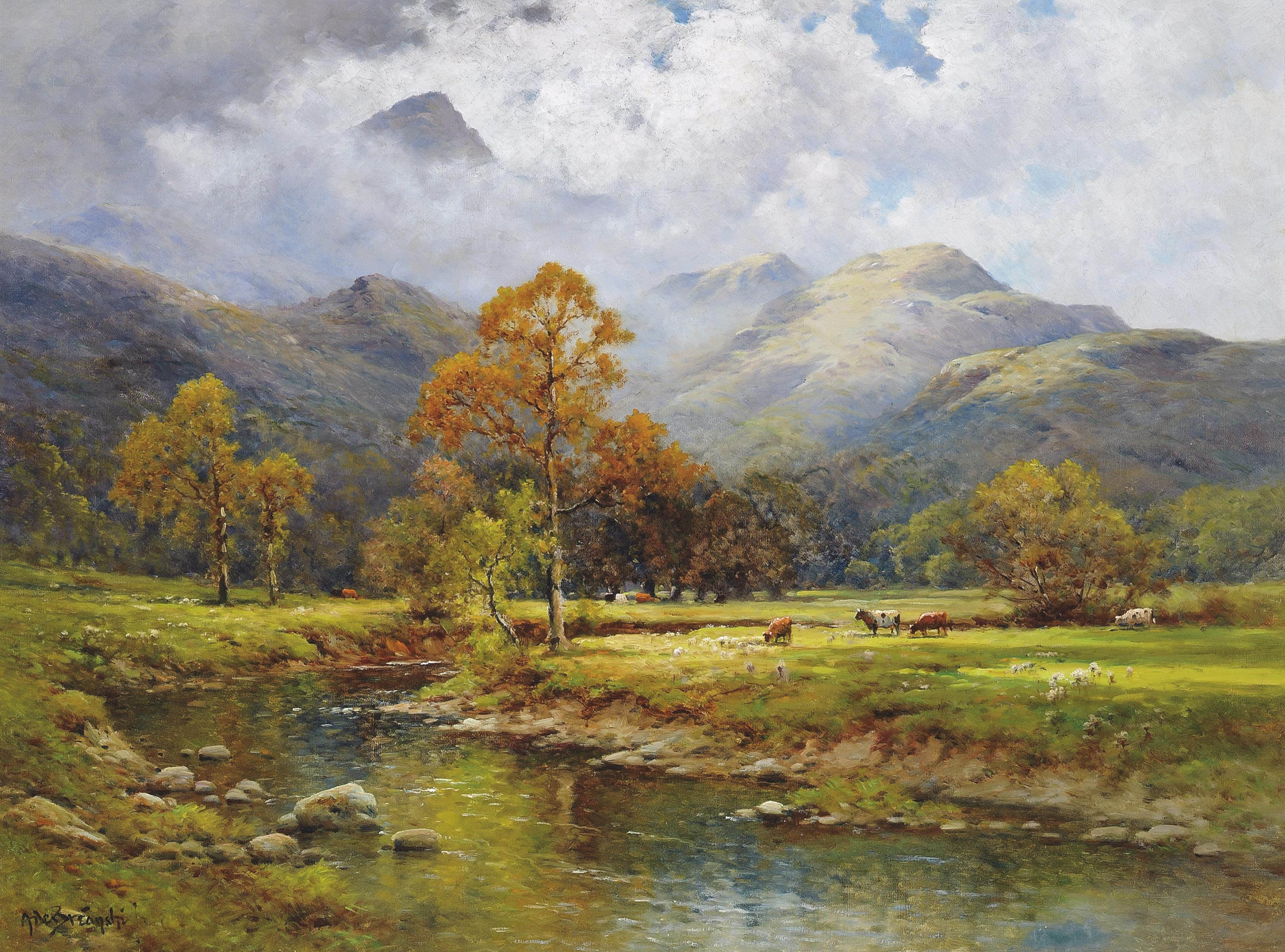 The English lakes, Autumn in Easedale