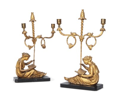 A PAIR OF GEORGE III GILDED GE