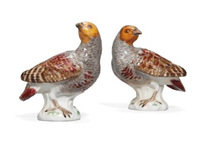 A PAIR OF MEISSEN SMALL MODELS