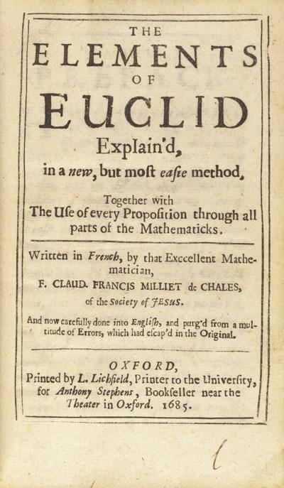 EUCLID -- MILLIET DECHALES, Cl