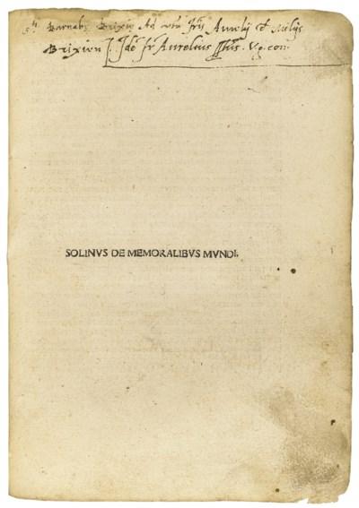 SOLINUS, Gaius Julius (fl. 3rd