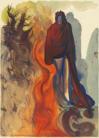 DALI, Salvador (1904-1989, illustrator) -- DANTE ALIGHIERI (1265-1321). La Divina Commedia. Verona: Officine Bodoni, 1964. 9 volumes, large 4° (343 x 267mm). 100 color lithographs tipped in, 100 colour and 100 black and white duplicate lithographs, and 64 trials ('progressive di stampa') for plate 16 in the Inferno. Loose as issued in publisher's cream printed wrappers within cream decorated buckram chemises in slipcases of the same design.