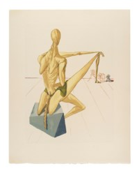 DALI, Salvador (1904-1989, illustrator) -- DANTE ALIGHIERI (1265-1321). La Divina Commedia. Verona: Stamperia Valdonega, 1964. 6 volumes, large 4° (343 x 267mm). 100 colour lithographs. Loose as issued in publisher's cream printed wrappers within cream decorated buckram chemises in slipcases of the same design (some dust-soiling to slipcases).