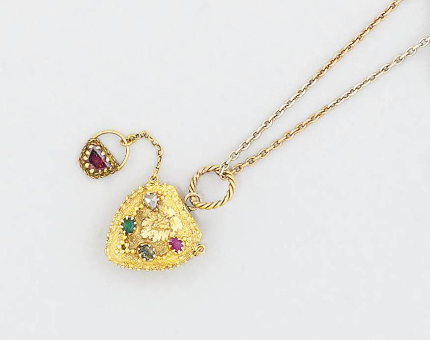 A late 19th century gem-set 'R
