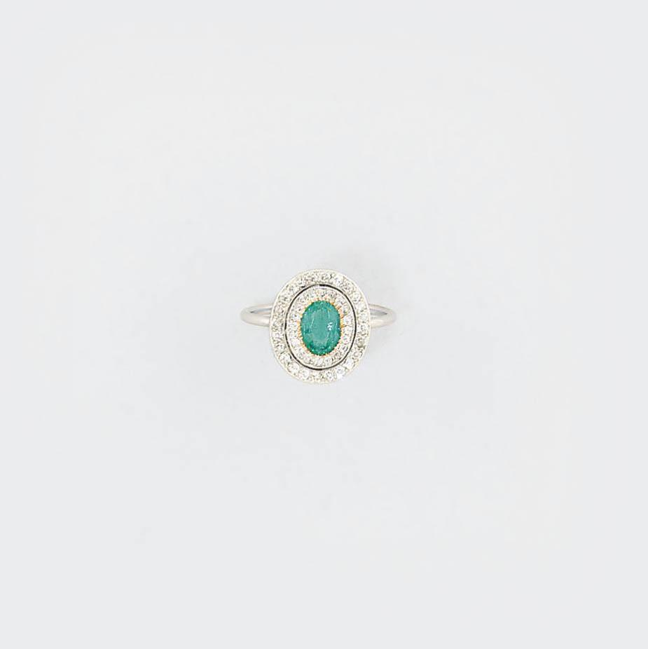 A Belle Epoque, emerald and di