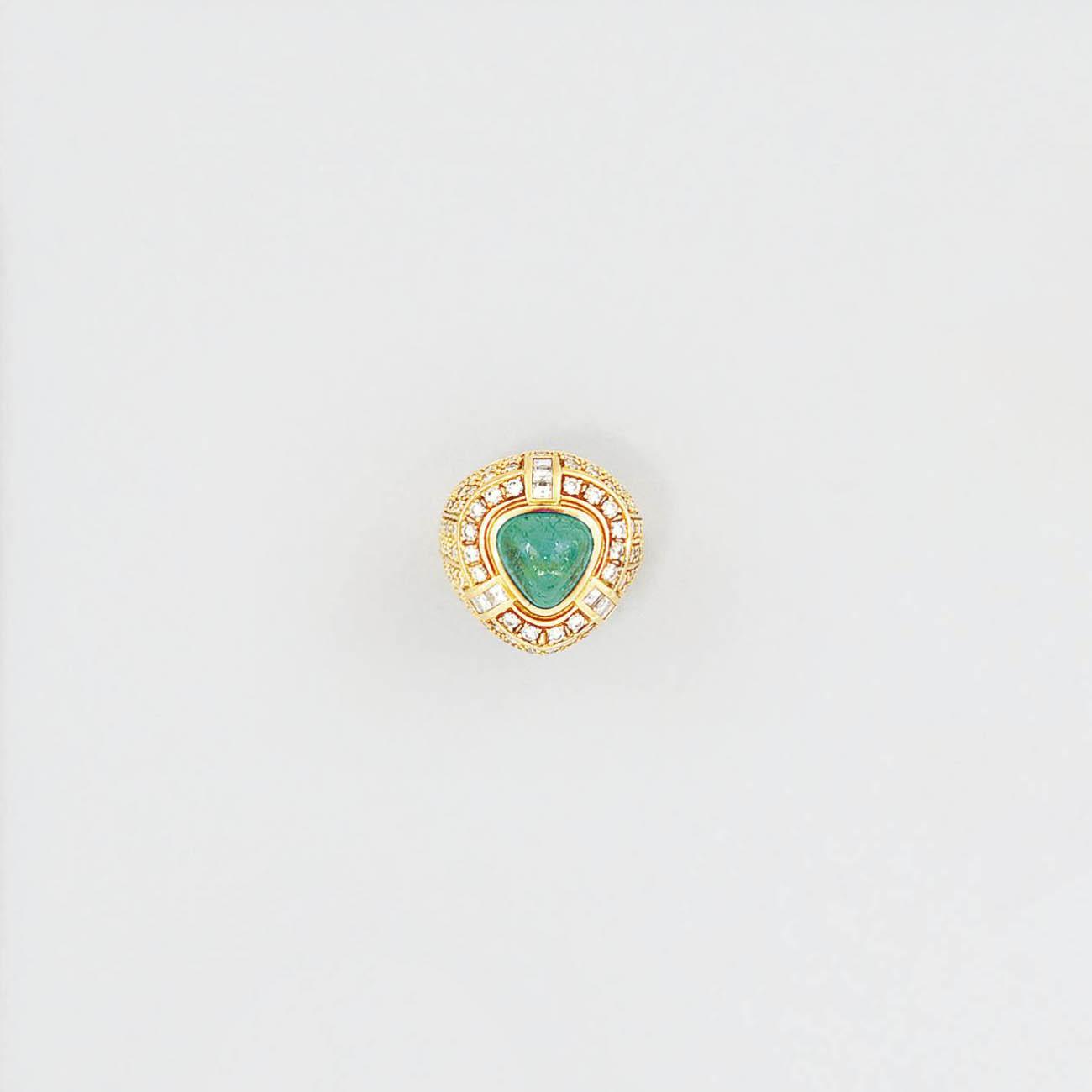 An emerald and diamond dress r