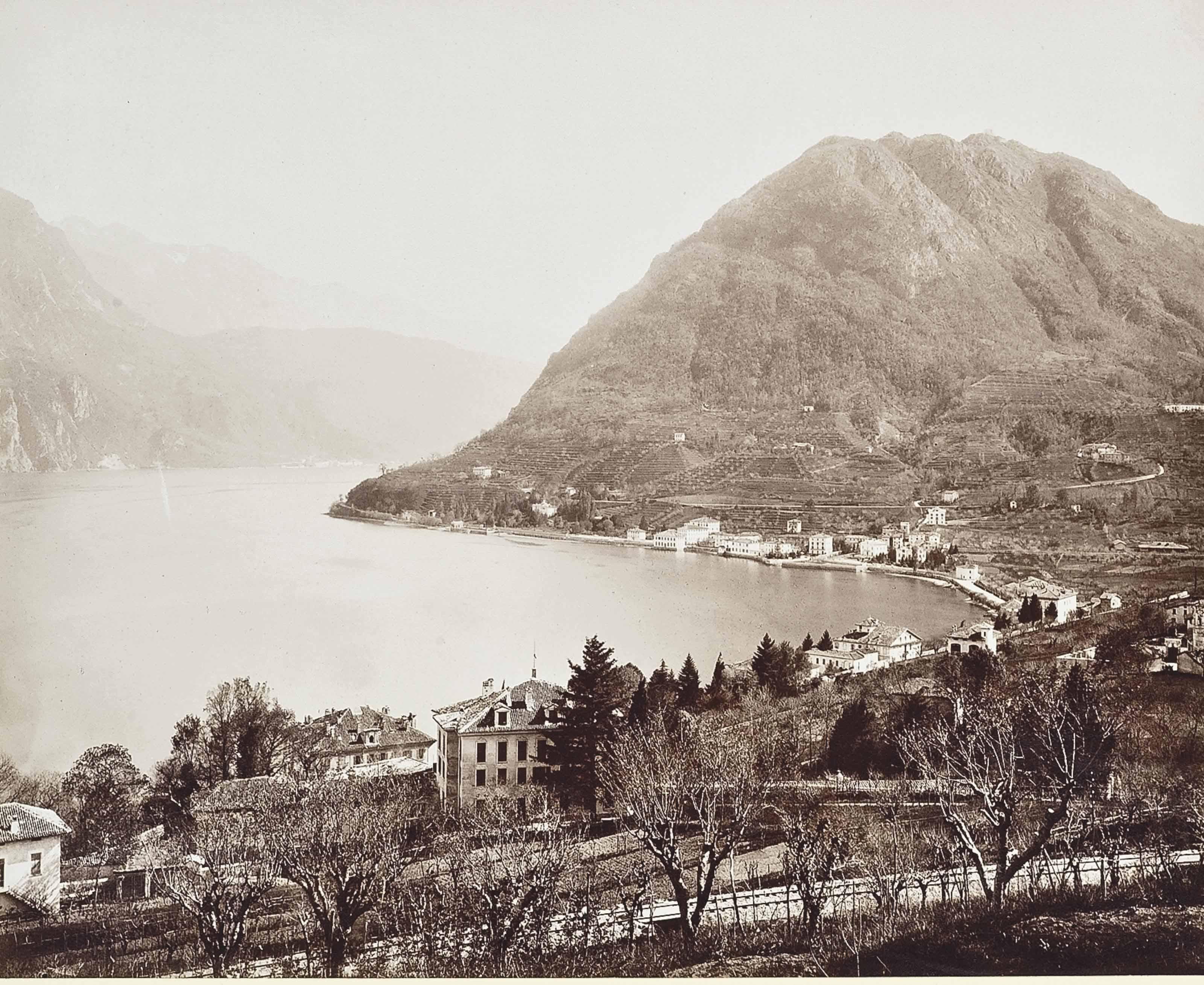 Lugano et le mont Salvatore; Defilé de Dazio; and Vue depuis le mont Genere sur le lac Majéure; Vue de Zermatt