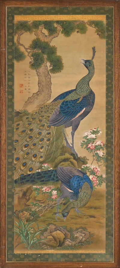 TWO JAPANESE PAINTINGS OF BIRD