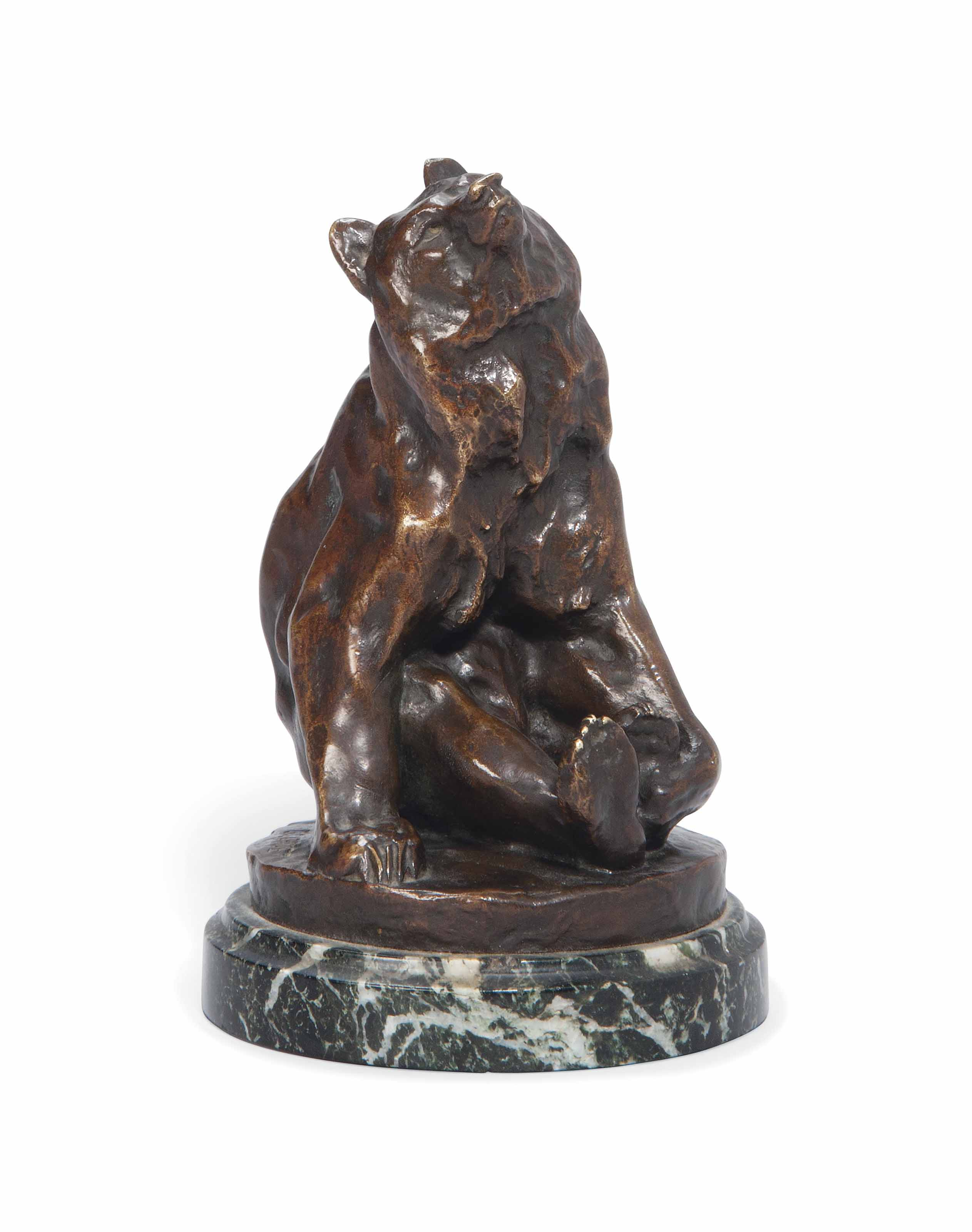 A FRENCH BRONZE FIGURE OF A BEAR