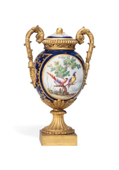 A SEVRES GILT-METAL-MOUNTED BL