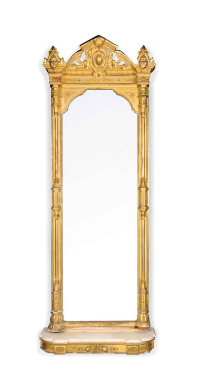 A FRENCH OR ENGLISH GILTWOOD A