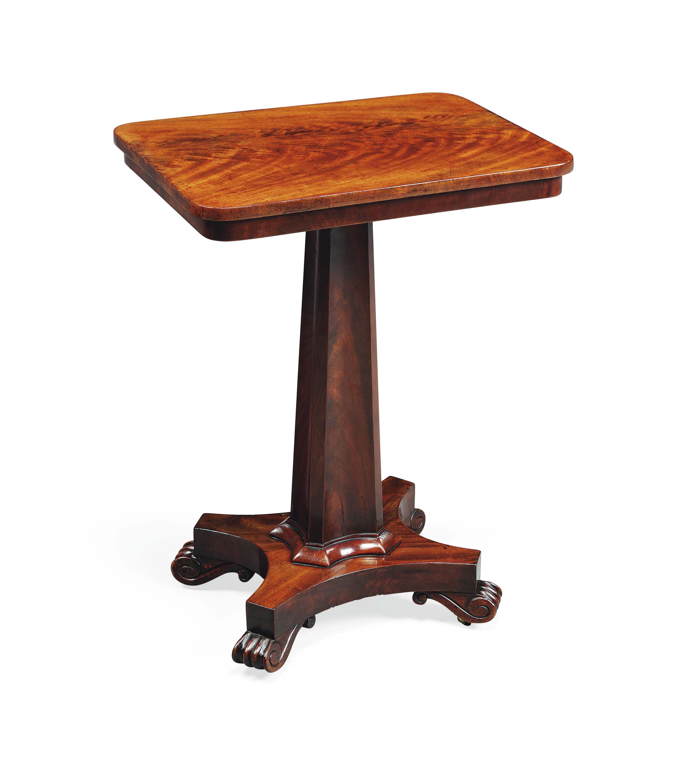 A WILLIAM IV MAHOGANY OCCASIONAL TABLE