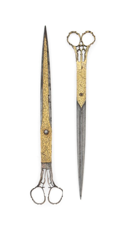 TWO GOLD-DAMASCENED PAIRS OF S