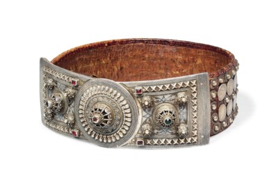 A LARGE OTTOMAN SILVER-MOUNTED