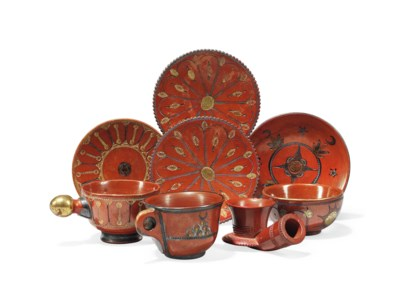A GROUP OF TOPHANE WARE