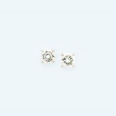 A pair of diamond earstuds, by
