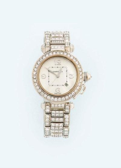 A 18ct. white gold diamond-set