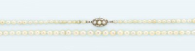 A natural pearl necklace and a