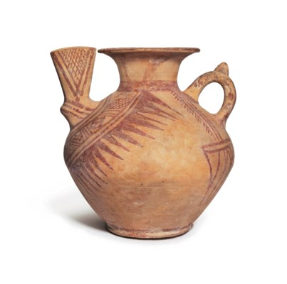 A TEPE SIALK PAINTED POTTERY S