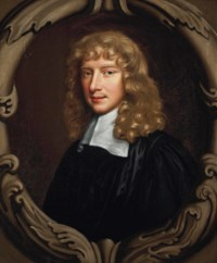 Portrait of Zachary Craddock (1633-1695), Provost of Eton (1681-1695), bust-length, in academic robes, in a sculpted cartouche