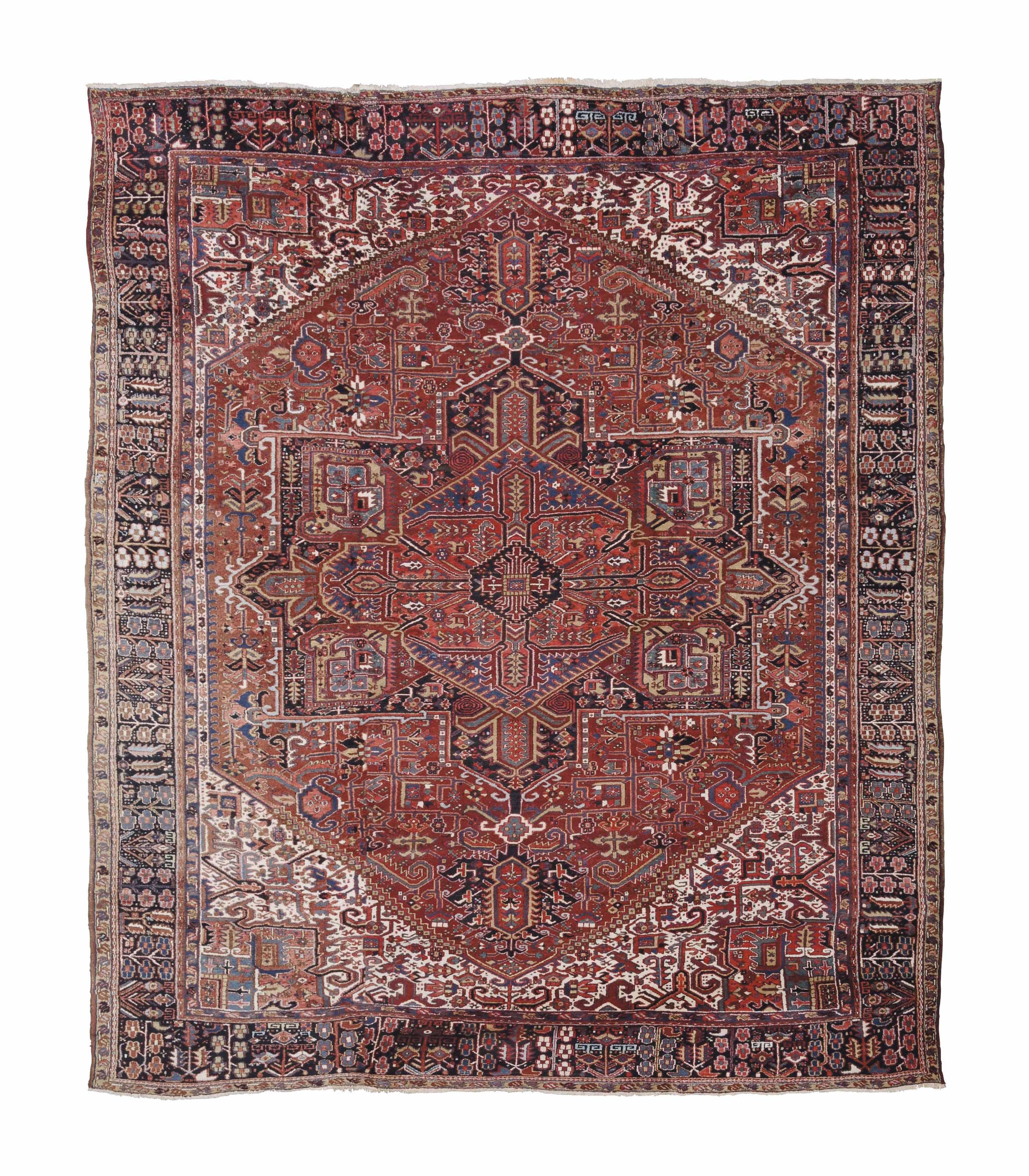 A large Heriz carpet