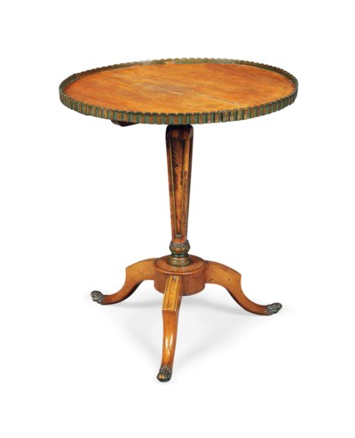 A FRENCH WALNUT OCCASIONAL TAB