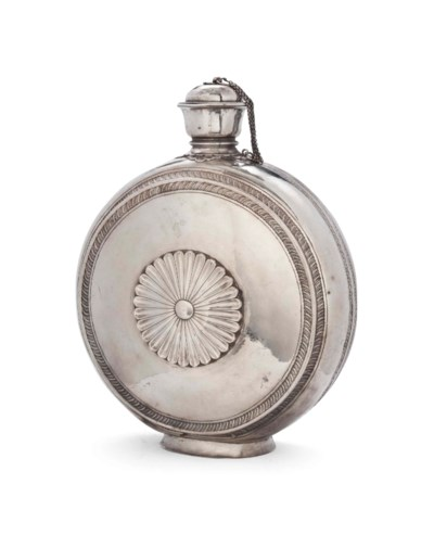A SILVER FLASK