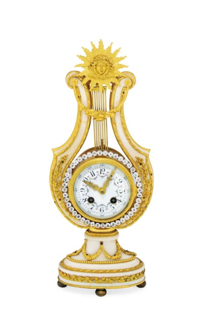 A FRENCH WHITE-MARBLE AND GILT