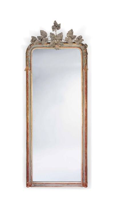 A LARGE FRENCH PARCEL GILT AND