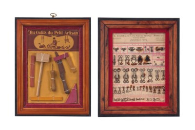 EIGHT FRAMED FRENCH AND GERMAN