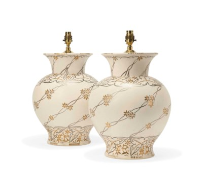 A PAIR OF WEDGWOOD CERAMIC VAS