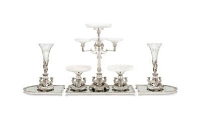 AN ELECTROPLATED FIVE-PIECE SU
