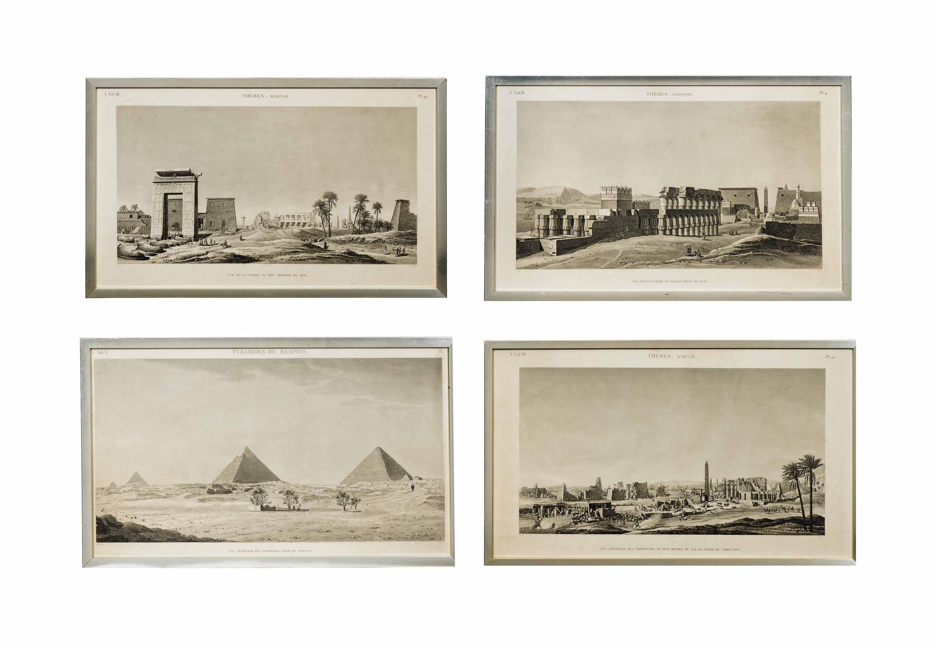 NINE FRENCH ENGRAVINGS OF VIEW