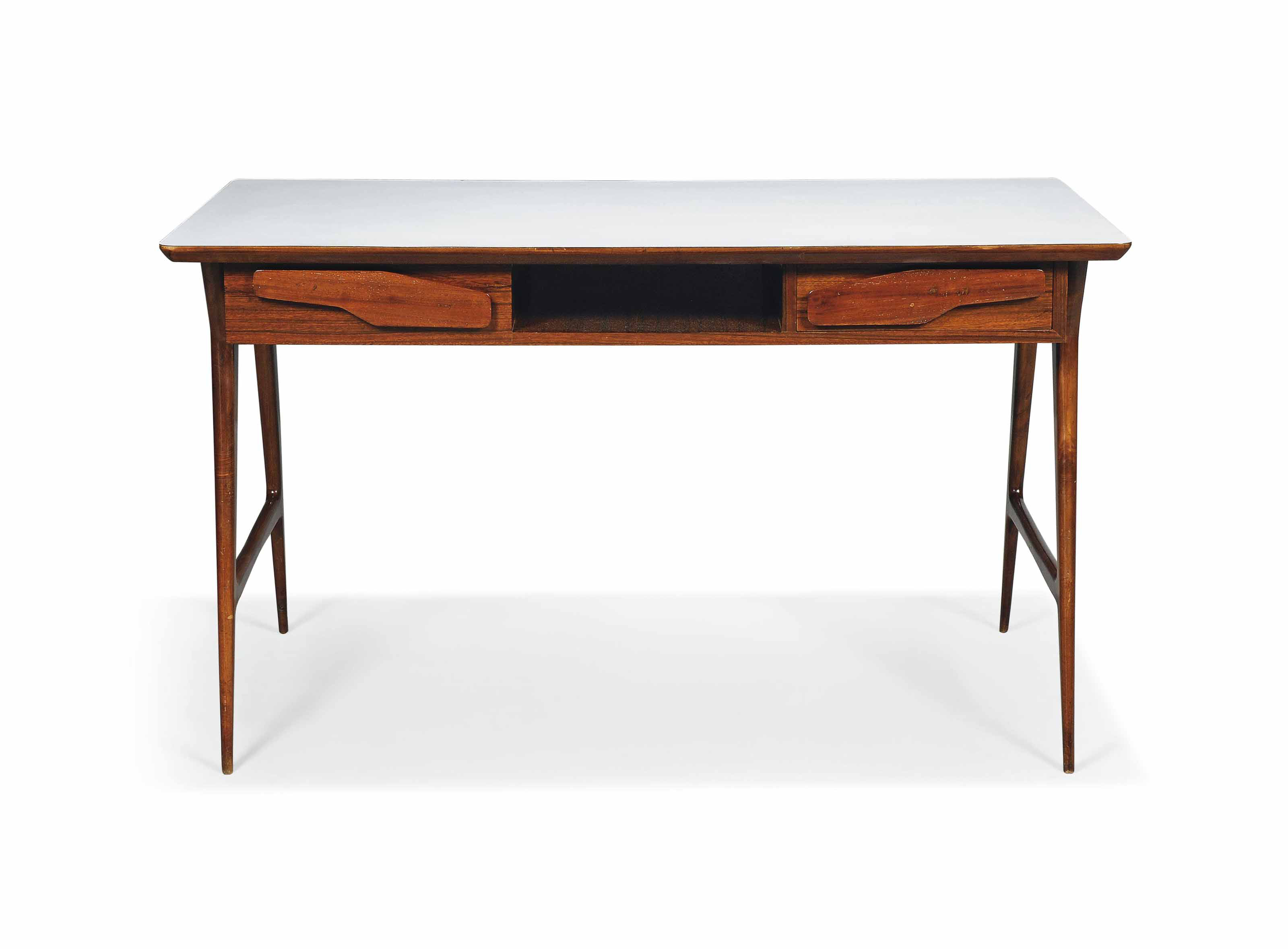A GIO PONTI STYLE WALNUT & FOR