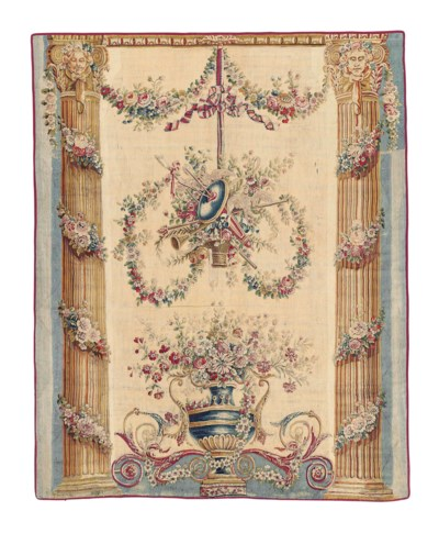 A FRENCH AUBUSSON PORTICO TAPE