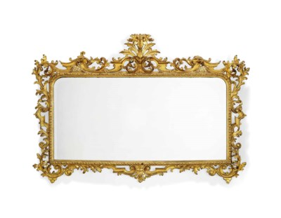 AN ITALIAN GILTWOOD OVERMANTLE